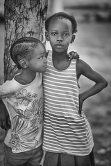 Ethiopia Girls (mckenziemedia) Tags: girls sisters orphans orphanage family love togetherness blackandwhite monochrome faces portrait portraiture candid tree bokeh ethiopia ethiopian africa