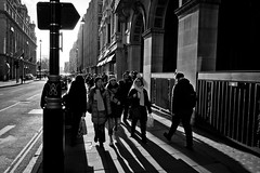 Piccadilly (Camera Freak) Tags: 180217londonitaly leica 2018 london piccadilly tourists sightseeing road sun monochrome bnw blackandwhite people shadows ritz hotel elmaritm12828asph