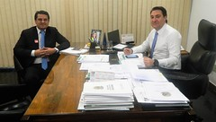 Audiência com o prefeito da cidade de Santa Cruz do Monte Castelo (PR), Fran Boni