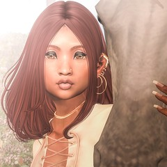 Enlightenment. (Close Up) (Choitato Seung-Hyun) Tags: wednesday adored rowena eyeshadows studioexposure reign asteroidbox earrings nosering piercing cynful micaela fameshed fashiowl foxcity horse bento skinfair events fairs secondlife sl ahchooe choi choitato blog blogger photographer photography taketomi jiao catwa hanako lotus formation maitreya lara omrida