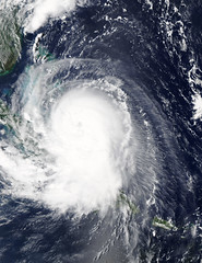 Hurricane Joaquin over the Bahamas (skaradogan) Tags: hurricanejoaquin joaquin hurricane weather nasa nasagoddard weatherfromspace hurricanefromspace rain