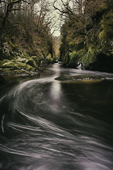 Fairy Glen (jaygilmour11) Tags: water longexposure stream river rocks stones trees branches fast sky cloud winter leefilters nikon manfrotto