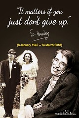 It matters if you just  don't give up.  —Stephen Hawking (tjetjev_gorbatjev@yahoo.co.id) Tags: motivational matters live fitnessmotivation poetry coffee quotes quotation life love memories dontgiveup inspirational rip enlightenment hustle wisdom travel