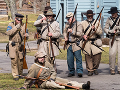 IMGPJ32730A_Fk - Spring Mill State Park - Winter Civil War Re-enactment (David L. Black) Tags: stateparks springmillstatepark civilwarreenactment olympusomdem1mkii olympus40150f2814xtc