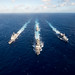 US Navy and Japan MSDF ships participate in the bilateral training exercise MultiSail 2018 in the Philippine Sea