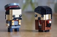 Stalin & Hitler Brickheadz (O Wingård) Tags: lego hitler stalin brickheadz ww2