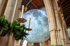 Museum of the Moon (timnutt) Tags: installation cathedral moon leicester art church lunar