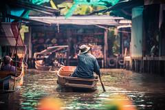 Floating Market Near Bangkok 1 (stollman_ron) Tags: travel thailand tourist people river floatingmarket candid expression