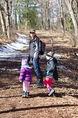 Walking at Mirror Lake - 1 (Keppyslinger) Tags: wisconsin nature mirrorlake woods family tree walkingwithdad amy daughter