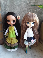 Mori girl in green (Lunalila1) Tags: doll groove handmade mori girl outfit clothes requiem art designs costura sewing 16 pattern