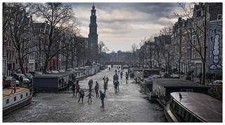 Skating in Amsterdam