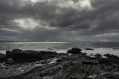 Storm's Edge (jessicalowell20) Tags: atlanticocean black bristol clouds coast coastal dramaticsky gray horizon light maine march newengland northamerica ocean pemaquidpoint rockformation rocks rockyheadland seascape silver tides water waves weather wet white winter