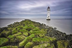 New brighton lighthouse (paul blakeway) Tags: sea seascape longexposure coast view newbrightonlighthouse sky clouds seafront lighthouse