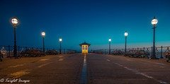 Here Comes The Sun (Twiglet Images) Tags: nikon sky swanage new pier cloudless wooden victorian lamps