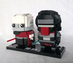 Darth Malak & Revan (tomvanhaelen) Tags: lego star wars custom brickheadz moc darth malak revan old republic jedi sith