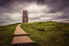 Pathways (The Frustrated Photog (Anthony) ADPphotography) Tags: architecture category england external glastonbury glastonburytor places somerset travel sky grass landscape tower ruin decay corrosion path pathway steps hill tor slopes clouds cloudysky greyclouds canon canon70d canon1585mm outdoor landscapephotography