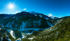 Ruinaulta - Switzerland's Grand Canyon (Rico the noob) Tags: 2018 laax landscape nature outlook mountains outdoor panorama clouds sun published water trees tree river forest switzerland snow sky dof schweiz 20mmf18 d850 20mm