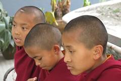 Moinillons (Bodnath = Boudhanath) (Kathmandu, Népal) (michele 69600) Tags: monk moine moinillon enfand children népal kathmandu bodnath boudhanath asie asia trois tres three