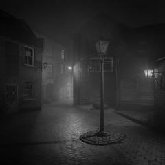 Shadows (jellyfire) Tags: architecture buildings cobbsyard distagont3518 eastanglia jacktheripper landscapephotography sonya7r sonyzeiss18mmlandscape suffolk town zeissdistagont18mmf35ze atmosphere bricks cobbles diss gaslight lamp lamplight leeacaster medieval mist moody night norfolk old spooky victorian wwwleeacastercom