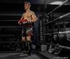 "Roch ""N' Roll"" Foster (FotoFling Scotland) Tags: fightnight gcalmuaythai glasgow glasgowcaledonianuniversity hamishwoodlecturehall muaythai rochfoster sport thaiboxing boxing fight"