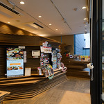 Simply exterior is rectangular glass box. But interior can feeling Kuma's style.