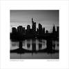skyline at dusk (ekkiPics) Tags: city frankfurt 5050 50mm urban flöserbrücke blackandwhite