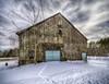 Old Barn ll (Jeananne Martin) Tags: clouds barn old newhampshire nh aqua country farm idyllic bucolic wolfeboro tracks