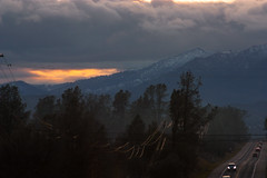 sunset hills mar 18 (Jillian Kern) Tags: snow mountains hills landscape california northern winter forest clouds storm road sunset smoke haze mountain peak slope allfreepicturesmarch2018challenge travel