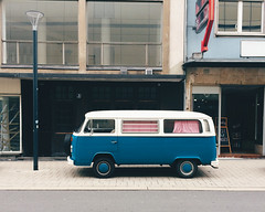 Would you go on vacation with that bus? (christiannass) Tags: transport street takingphotos germany buildings blue traveling bus city inspiring exploring car day flickr deutschland photography camera architecture transportation explore inspired outdoors