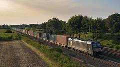Bardowick MRCE X4E 193 603 Container (Wolfgang Schrade) Tags: mrce vectron br193 1936038 containerzug container kbs110 güterzug eisenbahn zug altenwerder bardowickbruch