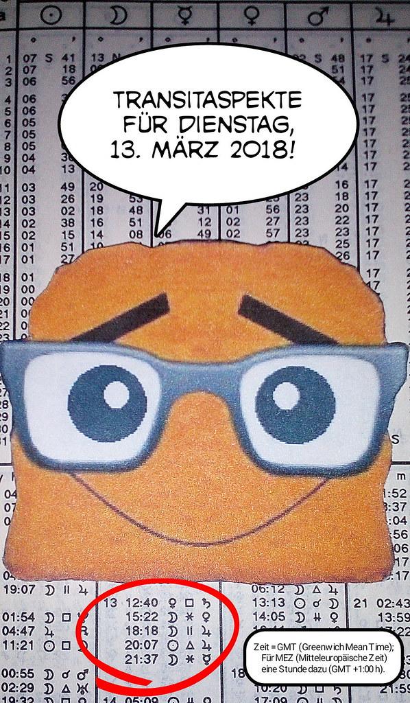 Ephemeriden für Dienstag, 13.03.2018