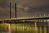 Rheinkniebrücke (Sony_Fan) Tags: düsseldorf sony alpha 6000 sigma 30mm 28 art water waterline rhine rhein fluss thomas umbach 2018 stadt city lights lichter hell dunkel spiegelung mirror sky clouds longterm exposer term long abend evening winter sonyfan