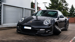 That's not gone well (m.grabovski) Tags: porsche 911 997 turbo crashed showroom warszawa warsaw polska poland mgrabovski