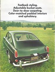 1969 Volkswagen 1600 (Hugo-90) Tags: vw volkswagen ads advertising brochure catalog car auto automobile 1969 1600 fastback