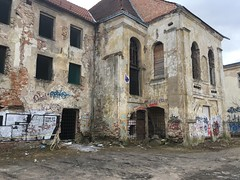 """Abandoned Vilnius"" series ... part 2 (journo_bouy) Tags: art graffiti vilnius town dark crumbling old bars building architecture abandoned"