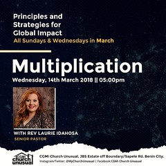 """From @mychurchunusual  -  #Multiplication with @IdahosaLaurie  Be our guest this evening as we continue on the topic """"Multiplication."""" #PrinciplesAndStrategiesForGlobalImpact #MyChurchUnusual (gospelmusicshop) Tags: principlesandstrategiesforglobalimpact multiplication mychurchunusual"""