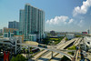 From the terrace of the Miami Tower. (Aglez the city guy ☺) Tags: miamitower walking walkingaround architecture afternoon highways road building urbanexploration urban outdoors city cityscapes downtownmiami downtown