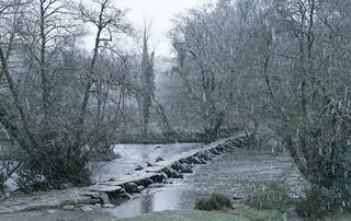 Snowstorm at Tarr Steps