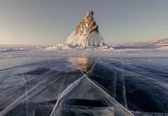 X (Andrew G Robertson) Tags: lake baikal russia siberia ice rock winter