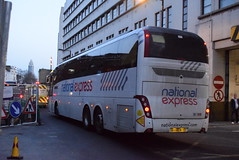 NX BV66WPY @ Victoria coach station (ianjpoole) Tags: edwards coaches national express volvo b11rt caetano levante bv66wpy passing london victoria coach station service