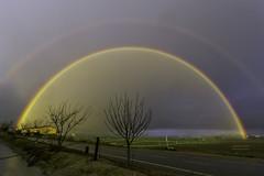 Colores de lluvia Valladolid (Blanco Carlos) Tags: arcoiris tormenta luz color lluvia valladolid campos rural horizonte esperanza alegría belleza imaginación amarillo arbol cielo agua
