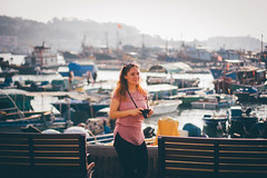 Cheung Chau mini trip (]vincent[) Tags: hk hong kong cheung chau vincent portrait people girl ginger emma sony rx 100 mk iv beautiful beer boat bicycle fish shrimp dryed food asia china