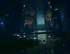 """Sanctuary"" (L1netty) Tags: abzu 505games giantsquid pc games gaming reshade screenshot 4k videogame color character light water lotus pillars"