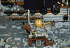 21_Endarmire_Iron_Mine (LegoMathijs) Tags: lego moc legomathijs steampunk mine miners mining rocks iron ore steampowered drones tracked driller flying discovery vehicle explorer speeder transporter transport airship clockwork drone speeders walking steamcopters pickaxe tools crates shaft cranes workshop gears cave docks