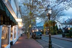 Edgartown - Main Street (David E Henderson) Tags: mainstreet edgartown massachusetts marthasvineyard november dusk street winter