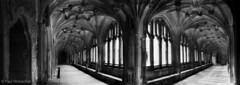 201803_36_03 (Paul Woloschuk) Tags: lacock abbey harrypotter wiltshire uk england foxtalbot panorama mono blackandwhite pinhole realitysosubtle aupremierplan cloisters stone wideangle