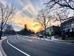 """""""People had to find things to do while waiting to die."""" ―Charles Bukowski 🌅 (anokarina) Tags: ⛅️ ☁️ 🌳 🌅 appleiphone8 stronghold perspective city urban street sunset trees yellow gold orange dcist"""