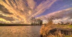 The Expanse of Entropy. (Alex-de-Haas) Tags: 11mm d850 dutch hdr holland irix nederland nederlands netherlands nikon noordholland noordhollandschkanaal schoorldam avond beautiful beauty canal cloud clouds evening hemel kanaal landscape landschap longexposure lucht mooi skies sky sundown sunset water winter wolk wolken zonsondergang