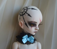 Doll Chateau clothes choker (ceressiass) Tags: msd bjd doll msdbjd msddoll abjd clothing clothes princess handmade etsy ceressbjdclothes sewing for dolls girls lolita kawaii chateau dc bella dcbella lace black pastel blue with bow cute gothic kawai girly fantasy 14 accessories