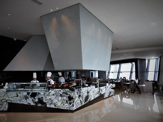the open kitchen at Trace